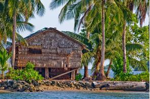 Bamboo house on Ghizo, Solomon Islands