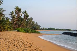 Kalutara beach near Hambantota, Sri Lanka