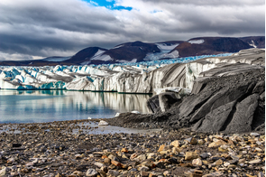 Glacier on Novaya Zemlya, Russia