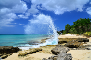 Frederiksted beach on St Croix, US Virgin Islands