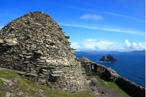 View from Skellig Michael to Little Skellig, Ireland