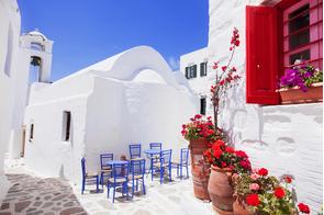 Street on Amorgos island, Greece