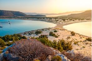 Simos beach on Elafonisos, Greece