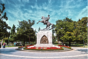 Ataturk monument in Samsun, Turkey