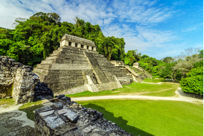 Mayan temples in Palenque, Mexico