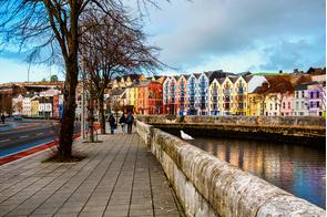 River Lee in Cork, Ireland
