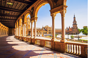 Plaza de España in Seville, Spain