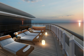 Regent Seven Seas Splendor - Regent Suite balcony