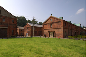 Red brick warehouses in Maizuru, Japan