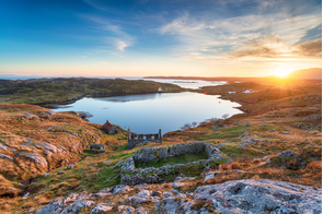 Sunset over Manish, Isle of Harris, Scotland