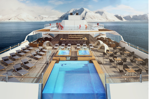 Hurtigruten - MS Roald Amundsen pool deck