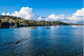 Armadale harbour on the Isle of Skye, Scotland