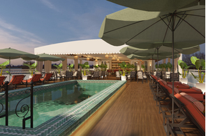 Uniworld Mekong Jewel - Pool deck