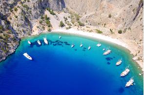 Agios Georgios beach in Symi, Greece