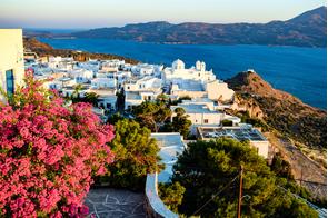 Plaka village on Milos, Greece