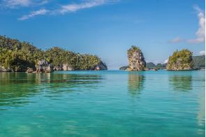Triton Bay in West Papua, Indonesia