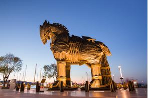 Trojan horse in Canakkale, Turkey