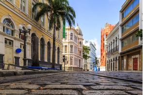 Rua do Bom Jesus in Recife, Brazil