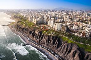 Miraflores cliffs in Lima, Peru