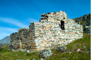 Viking church in Hvalsey, Greenland