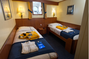 Quark Expeditions Ocean Adventurer Lower Deck Twin Cabin