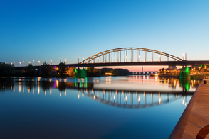John Frost Bridge in Arnhem, Netherlands