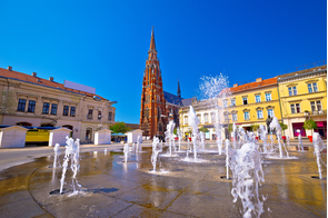 Main square in Osijek, Croatia