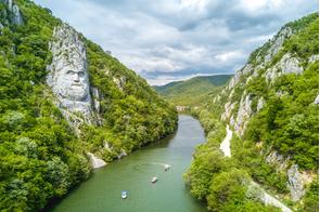 Iron Gates gorge on the Danube, Romania