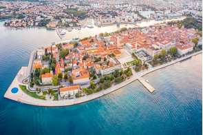 Aerial view of Zadar, Croatia
