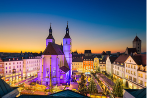 Christmas market in Regensburg, Germany