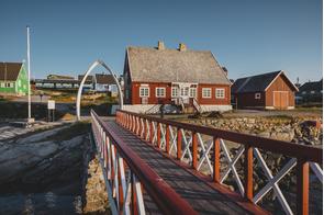 Jetty in Qeqertarsuaq, Greenland
