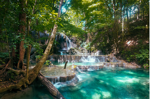Mata Jitu waterfall, Moyo island, Indonesia