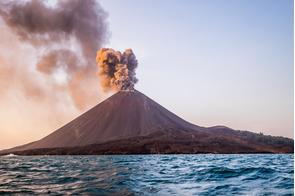 Eruption of Anak Krakatau, Indonesia