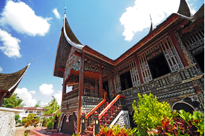 Big house in Padang, Sumatra, Indonesia
