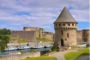Brest castle and Tanguy tower, France