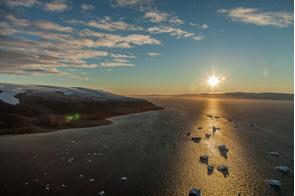 Sunrise over Qaanaaq, Greenland