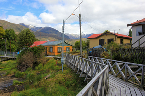 Boardwalk in Puerto Eden, Chile