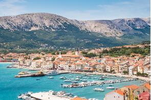 Baska town, Krk island, Croatia