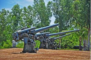 Artillery emplacement in Corregidor, Philippines