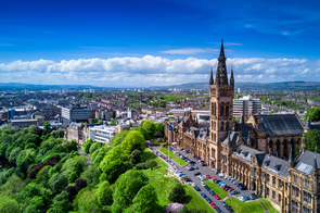 Aerial view of Glasgow, Scotland