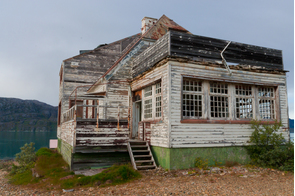 Abandoned house in Ivittuut mining village, Greenland