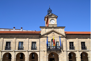City hall in Aviles, Asturias, Spain