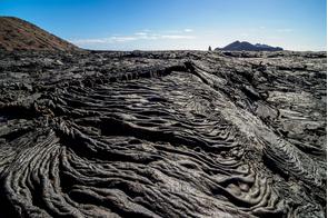 Lava field in Sullivan Bay, Santiago island, Galapagos