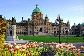 Parliament building in Victoria, British Columbia, Canada