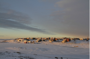 Sunrise over Cambridge Bay, Canada