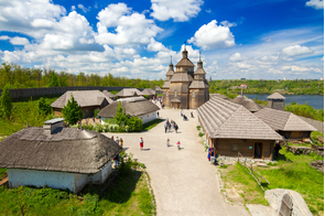 Cossack fortress on Khortytsya island, Zaporozhye, Ukraine