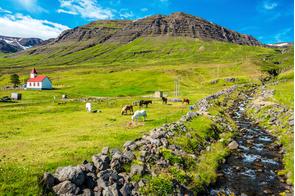 Mjoifjordur village, Iceland