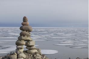 Inukshuk at Gjoa Haven, Nunavut, Canada