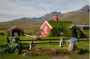 Turf house in Bakkargerdi, Iceland