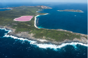 Lake Hillier on Middle Island, near Esperance, Australia
